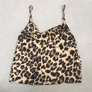 nasty gal leopard tank top